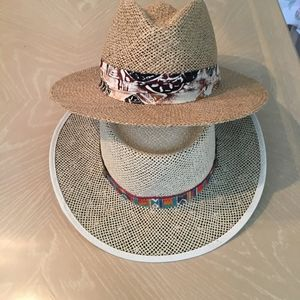 Town Talk and Triangle Hat Shop hats - 2 Hats $17!
